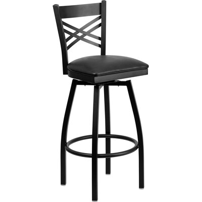"Flash Furniture Hercules Series ""X"" Back Swivel Bar Stool"