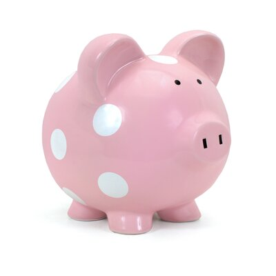 Child to Cherish Large Polka Dot Piggy Bank
