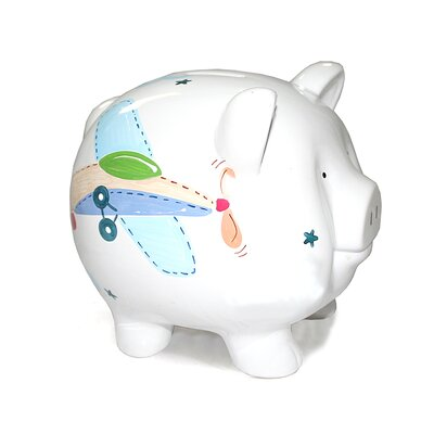 Child to Cherish Airplane Large Piggy Bank