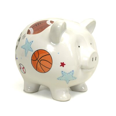 Child to Cherish Sports Large Piggy Bank