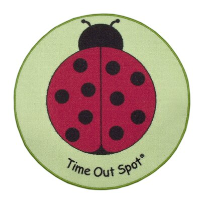 Child to Cherish Time Out Spot Lady Bug Kids Rug