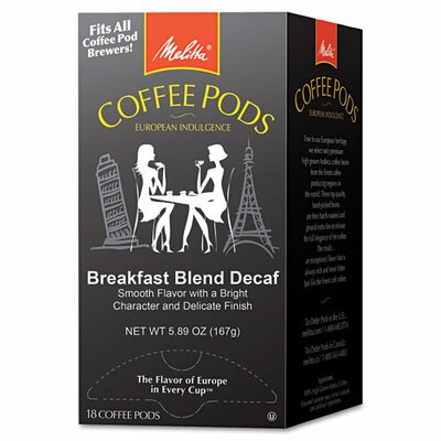 Breakfast Blend Decaf Coffee Pods, 18 Pods/Box