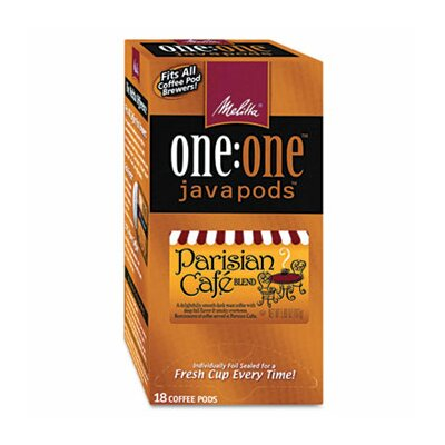 Melitta Parisian Café One Coffee Pods, 18 Pods/Box