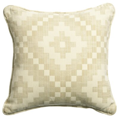 Mastercraft Fabrics Outdoor/Indoor Vibrant Anasazi Alabaster Pillow in White