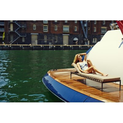 Harbour Outdoor Pier Sun Lounge with Cushion