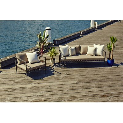 Harbour Outdoor Pier Deep Seating Sofa with Cushions