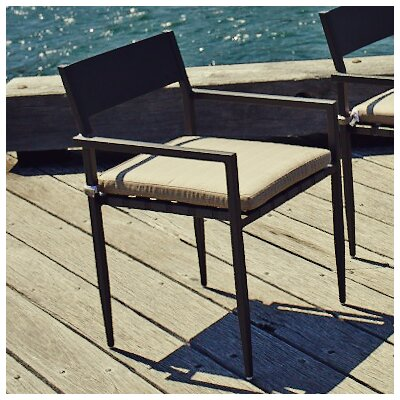 Harbour Outdoor Pier Stacking Dining Arm Chair with Cushion