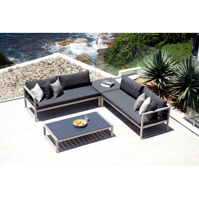 Harbour Outdoor Piano One Arm Loveseat with Cushions