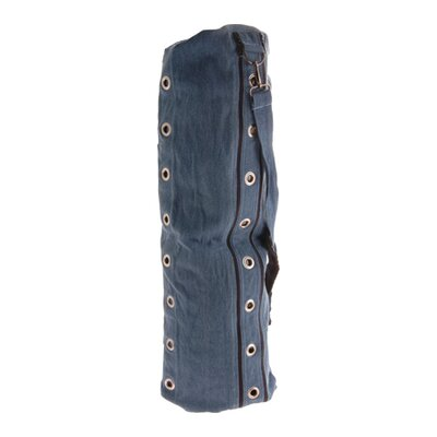 Heavy Duty Compartmental Yoga Mat Bag in Denim Blue