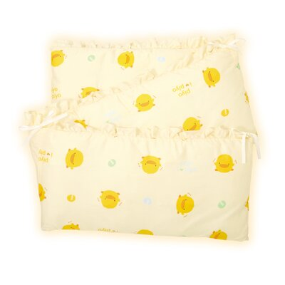 Piyo Piyo Four Piece Cradle Bedding Set in Yellow