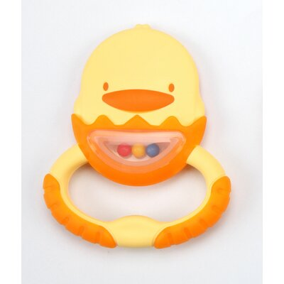 7 cm Dual Color Soft Teether with Container