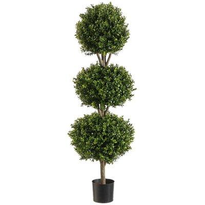 Tori Home Triple Ball Shaped Boxwood Topiary In Pot