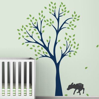 LittleLion Studio Trees Fawn Wall Decal