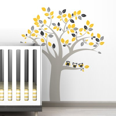 LittleLion Studio Trees Owl Wall Decal