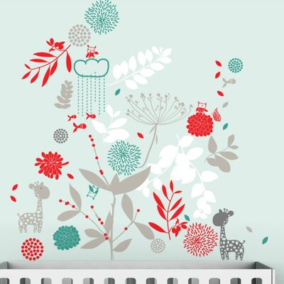 LittleLion Studio Color Block Botanical Garden & Little Friends Wall Decal