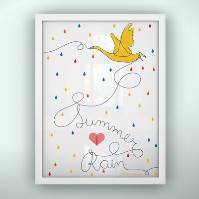 LittleLion Studio Prints Summer Rain Framed Art