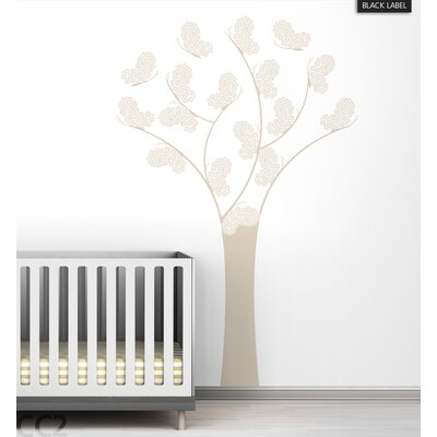 LittleLion Studio Butterfly Tree Black Label Wall Decal