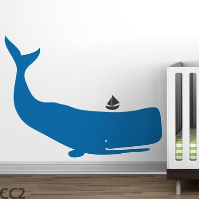 LittleLion Studio Baby Zoo Whale Wall Decal