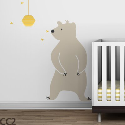 LittleLion Studio Baby Zoo Bear & Hive Wall Decal