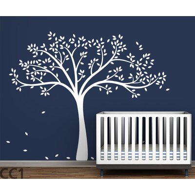 LittleLion Studio Monochromatic Fall Tree Wall Decal