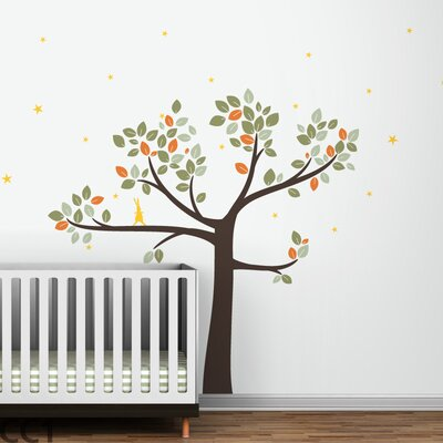 LittleLion Studio Follow the Little Rabbit Tree Wall Decal