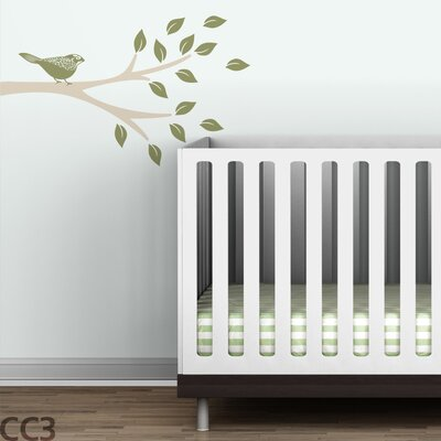 LittleLion Studio Floral Bird Branch Wall Decal