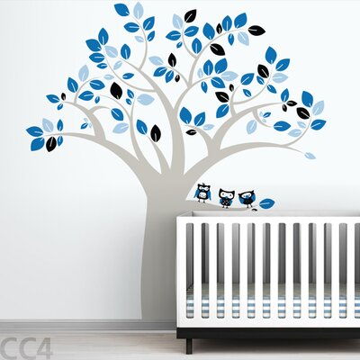 LittleLion Studio Owl Tree Extra Large Wall Decal