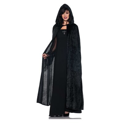 Underwraps Velvet Hooded Cloak Costumes