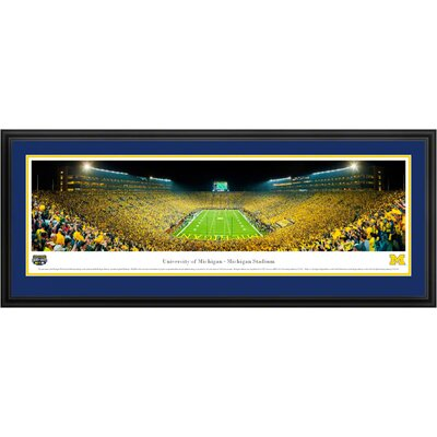 Blakeway Worldwide Panoramas, Inc NCAA University of Michigan Deluxe Frame Panorama