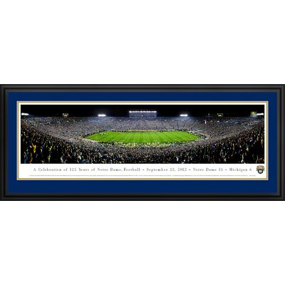 NCAA University of Notre Dame - 125 Night Deluxe Frame Panorama