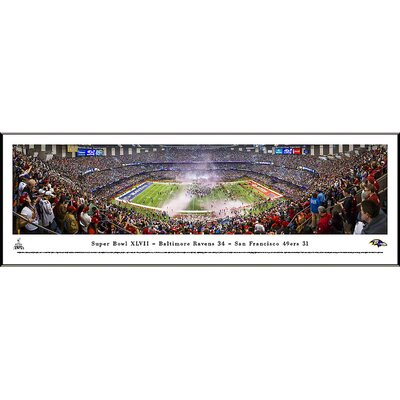 Blakeway Worldwide Panoramas, Inc NFL Super Bowl 2013 by Christopher Gjevre Standard Framed Photographic Print