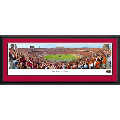 Blakeway Worldwide Panoramas, Inc NCAA Red River Rivalry - End Zone Deluxe Frame Panorama
