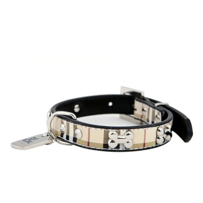 Rufus and Coco Peppermint Grove Bone Dog Collar