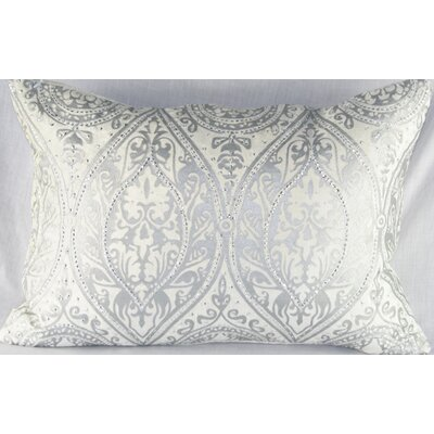 Design Accents LLC Velvet Pillow in Ivory and Silver