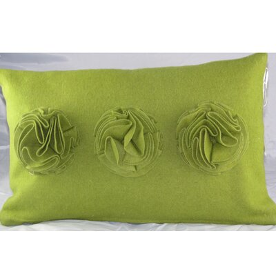 Design Accents LLC Felt Ruffle Roses Pillow