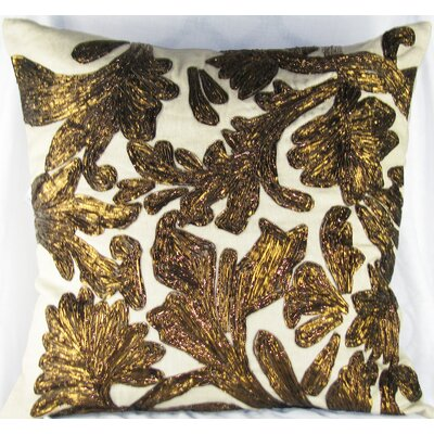 Lurex Floral Cotton Linen Pillow
