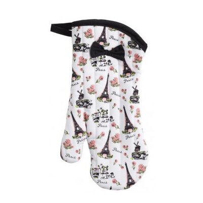 Jessie Steele Parisian Toile Oven Mitt with Trim