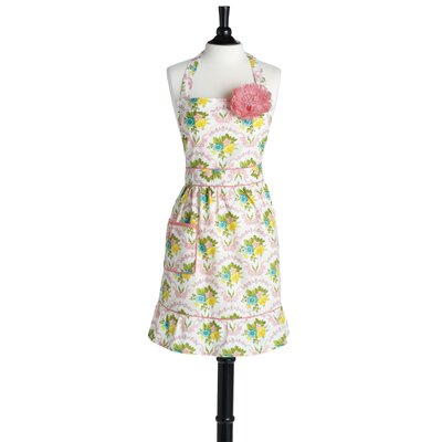 Scalloped Floral Bib Courtney Apron