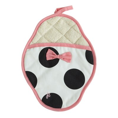 Dancing Dots Scalloped Pot Mitt