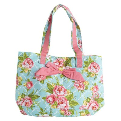 Cottage Kitchen Rose Tote Bag with Bow