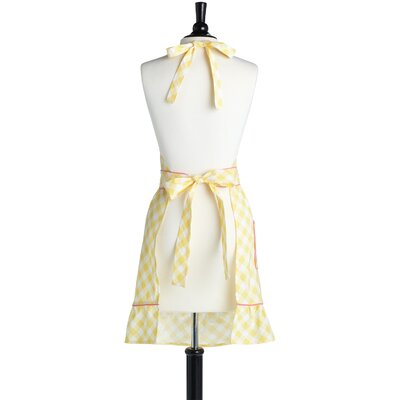 Jessie Steele Giant Gingham Yellow Bib Courtney Apron