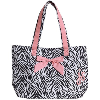 Zebra Tote Bag with Bow