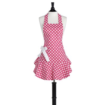 Pink and White Polka Dot Josephine Apron