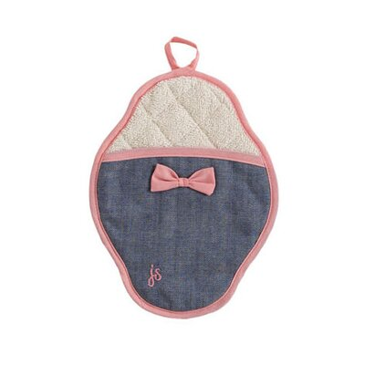 Jessie Steele Denim Bow Scalloped Pot Mitt