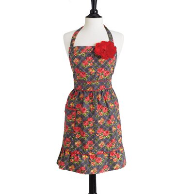 Jessie Steele Quilted Floral Bib Courtney Apron