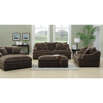 Emerald Home Furnishings Caresse Chair and Ottoman