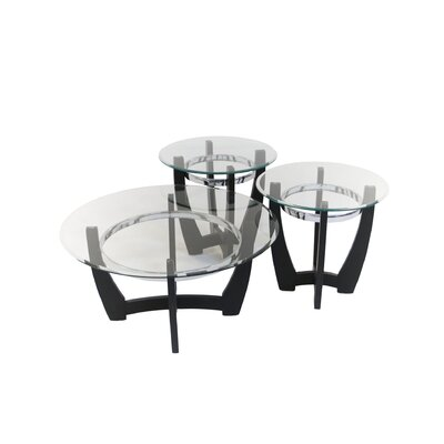 3 Piece Glass Coffee Table Set