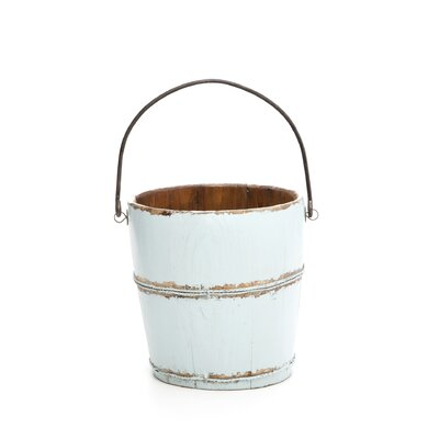 <strong>Antique Revival</strong> Vintage Round Kitchen Bucket with Iron Handle