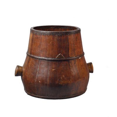 Antique Revival Gourd Bucket with Wooden Handles