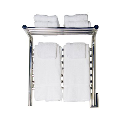 Jeeves Wall Mount Electric M Shelf Straight Towel Warmer